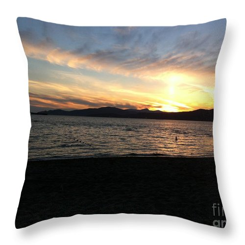 Sunset Throw Pillow featuring the photograph Sunset by Stephanie Bland