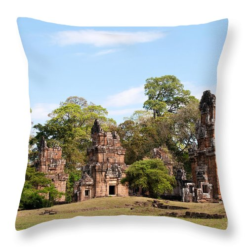 Suor Throw Pillow featuring the photograph Suor Prat Towers 02 by Rick Piper Photography
