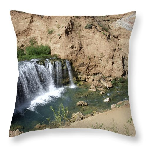 Waterfall Throw Pillow featuring the photograph Supai Falls by Lovejoy Creations