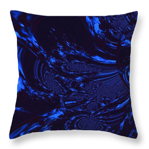 Supernatural Water Throw Pillow featuring the digital art Supernatural Water Element by Absinthe Art By Michelle LeAnn Scott