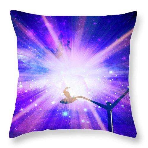 Supernova Throw Pillow featuring the photograph Supernova Ix by Aurelio Zucco