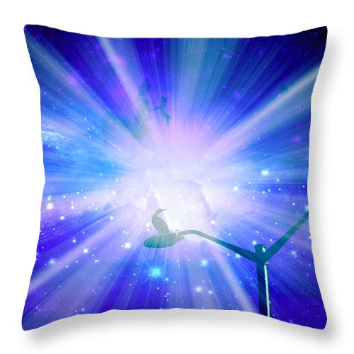 Supernova Throw Pillow featuring the photograph Supernova Viii by Aurelio Zucco