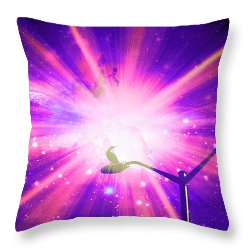 Supernova Throw Pillow featuring the photograph Supernova Xii by Aurelio Zucco