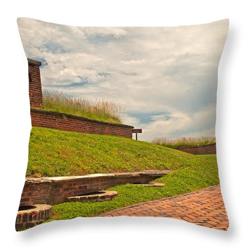 Ft Mchenry Throw Pillow featuring the photograph Supply Line by Paul Mangold