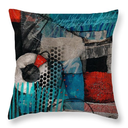 Bold Colors In Red Throw Pillow featuring the mixed media Support Her by Laura Lein-Svencner