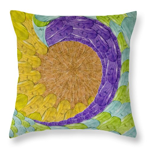 Collage Throw Pillow featuring the photograph Surf Boards by Suzette Kallen