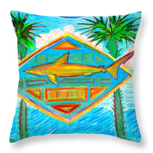 Pastels Throw Pillow featuring the pastel Surf Crest by Sean Hughes