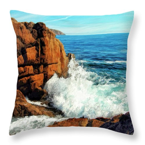 Surge Throw Pillow featuring the painting Surge by Dominic Piperata