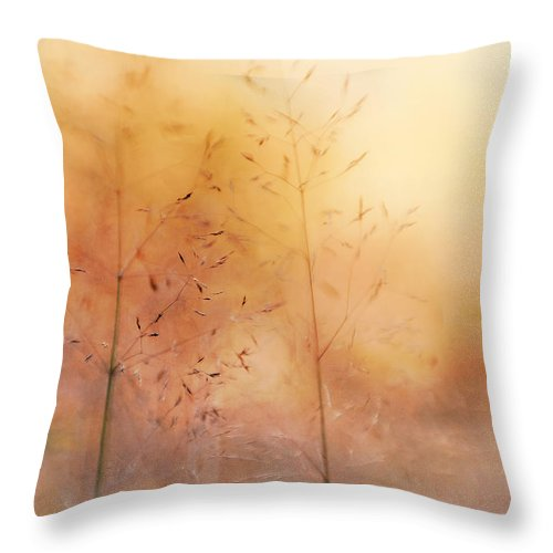 Grass Throw Pillow featuring the photograph Surreal Grass by Jolanta Zychlinska