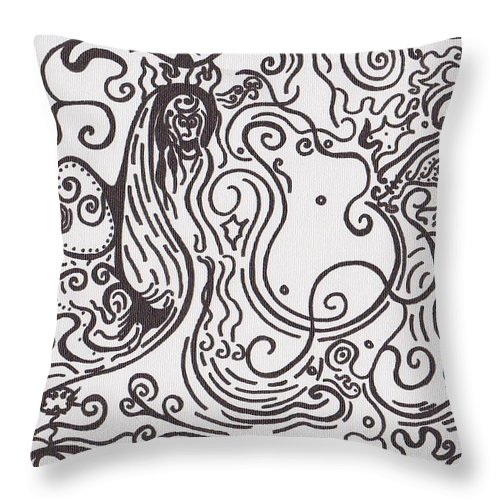 Abstract Throw Pillow featuring the painting Surreal by Jill Christensen