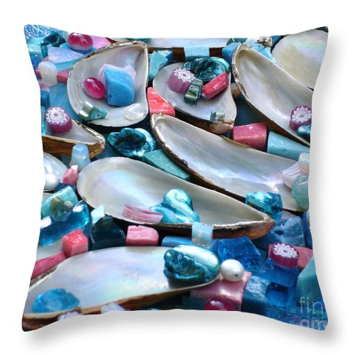 Turquoise Throw Pillow featuring the photograph Surrender by Valerie Fuqua