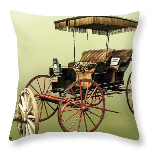 Surrey Throw Pillow featuring the photograph Surrey With The Fringe On Top by Norman Johnson