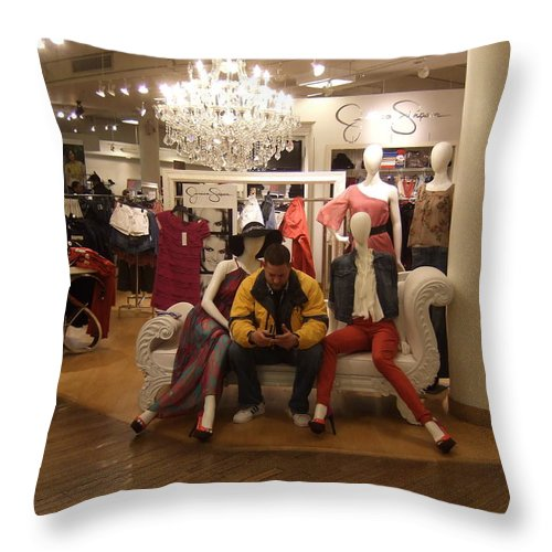 Throw Pillow featuring the photograph Surrounded By Beauties by Katerina Naumenko