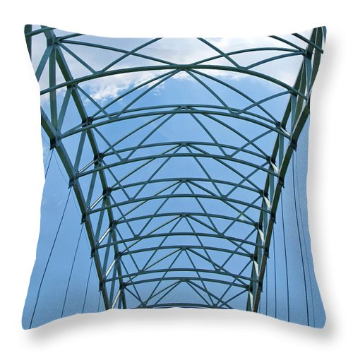 Suspension Throw Pillow featuring the photograph Suspension by Terry Anderson