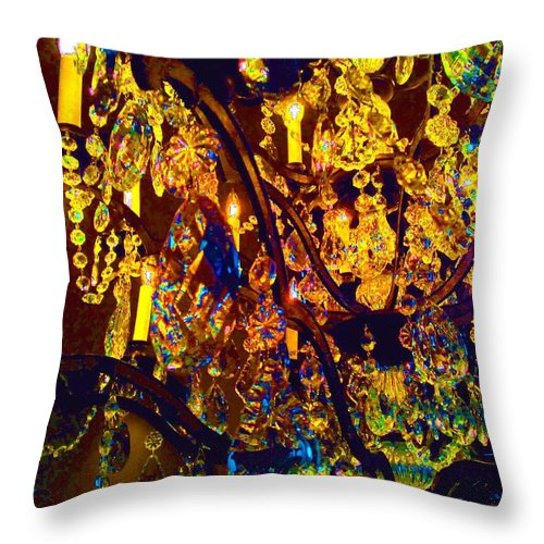Crystal Throw Pillow featuring the digital art Suzanne 1 by Leanne Stock