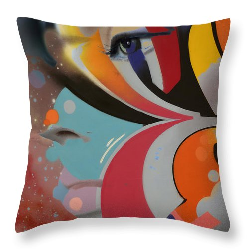 Vancouver Throw Pillow featuring the photograph Swallowed Rainbow by The Artist Project
