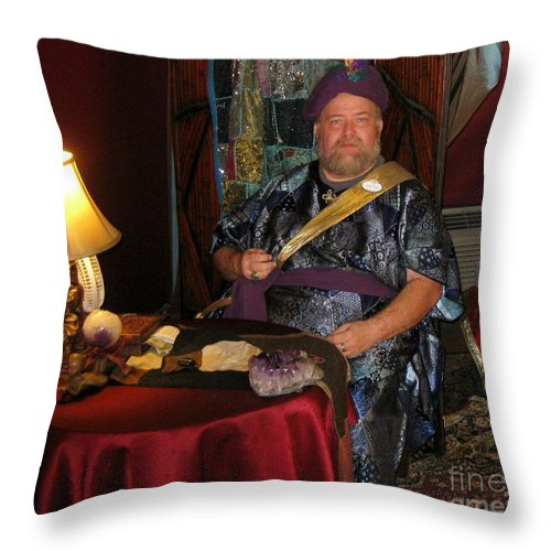 Swami Throw Pillow featuring the photograph Swami by John Malone