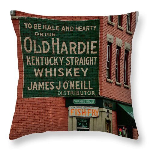 Buildings Throw Pillow featuring the photograph Swannie House 3391 by Guy Whiteley