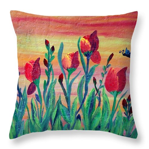 Mosaic Throw Pillow featuring the painting Swaying by Cynthia Amaral