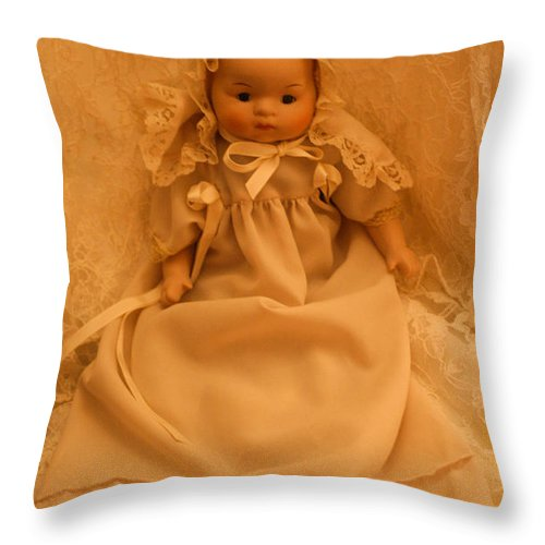 Baby Dolls Throw Pillow featuring the photograph Sweet Baby 2 by Mechala Matthews