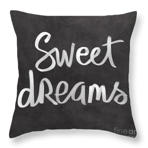 Dreams Throw Pillow featuring the mixed media Sweet Dreams by Linda Woods