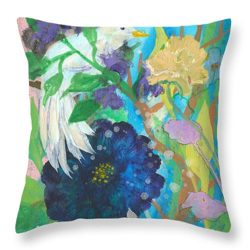 Sweet Throw Pillow featuring the painting Sweet Like Sugar by Robin Maria Pedrero