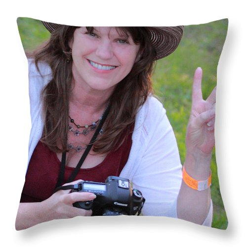 Sweet Peace Rw2k14 Throw Pillow featuring the photograph Sweet Peace Photog Rw2k14 by PJQandFriends Photography