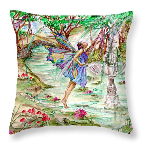 Trees Throw Pillow featuring the painting Sweet Refreshment by Patty Boban Lipinski
