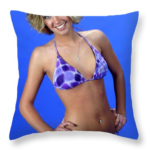 Model Throw Pillow featuring the photograph Swim 44 - Crop by Gary Gingrich Galleries