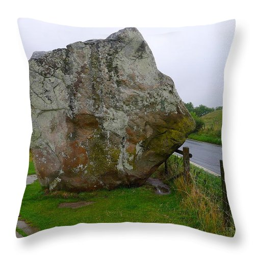 Avebury Throw Pillow featuring the photograph Swindon Stone by Denise Mazzocco