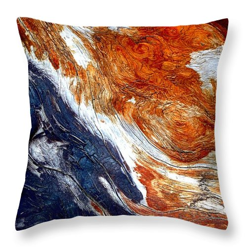 Abstract Throw Pillow featuring the photograph Swirl by Lauren Leigh Hunter Fine Art Photography
