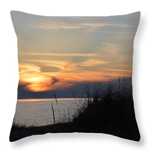 Ludington Throw Pillow featuring the photograph Swirl by Linda Kerkau