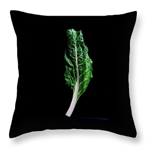 Fruits Throw Pillow featuring the photograph Swiss Chard by Romulo Yanes