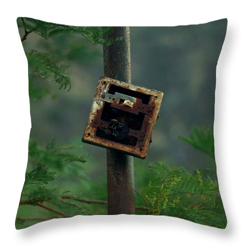 Switches Throw Pillow featuring the photograph Switches In Switches by William Mott