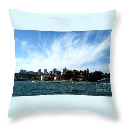 Sydney Throw Pillow featuring the photograph Sydney Harbour Sky by Leanne Seymour