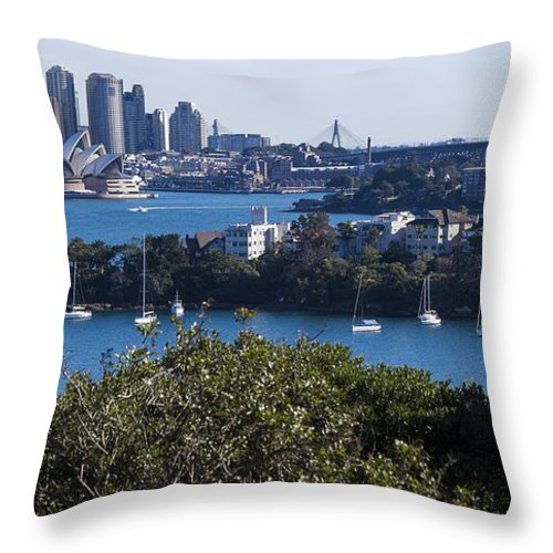 Australia Throw Pillow featuring the photograph Sydney Harbour by Steven Ralser