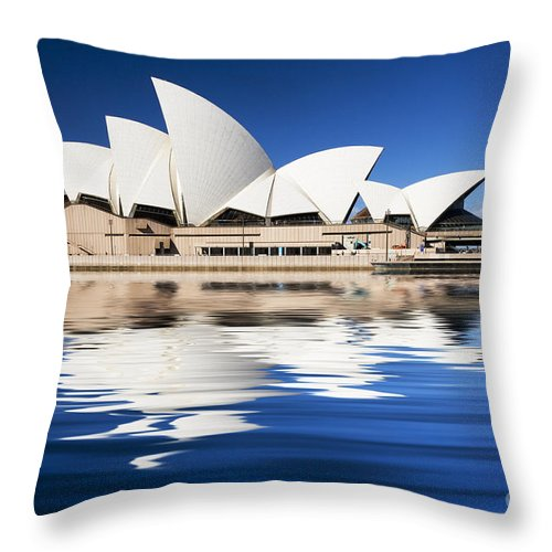 Sydney Opera House Throw Pillow featuring the photograph Sydney Icon by Avalon Fine Art Photography