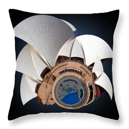 Sail Throw Pillow featuring the photograph Sydney Opera House by Alex Grichenko