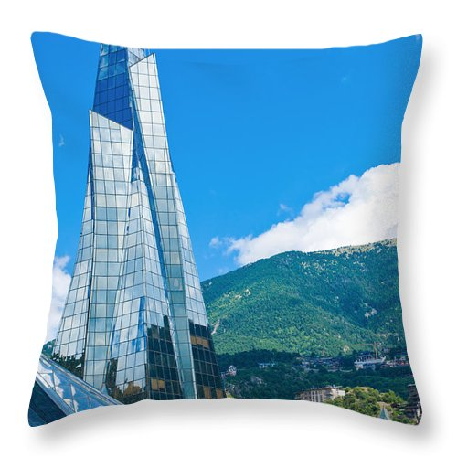 Andorra Throw Pillow featuring the photograph Symbol Of Andorra by Gurgen Bakhshetsyan