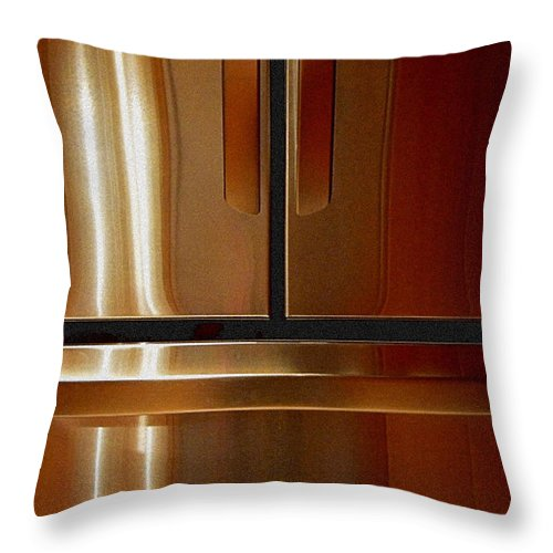 Newel Hunter Throw Pillow featuring the photograph Symmetry 1 by Newel Hunter