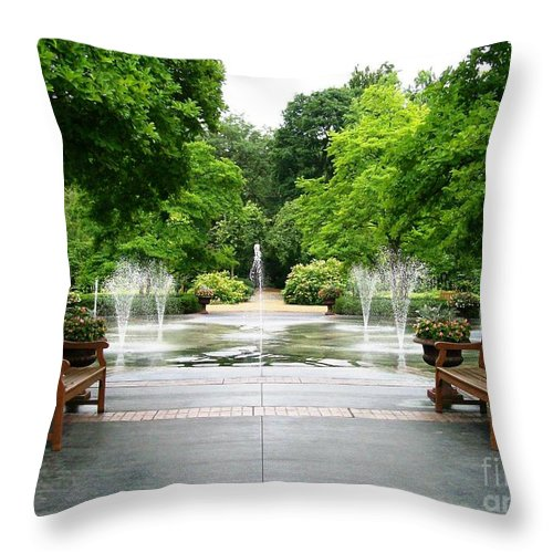 Symmetry Throw Pillow featuring the photograph Symmetry by Laurie Eve Loftin