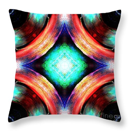 Colors Throw Pillow featuring the digital art Symmetry Of Colors by Phil Perkins