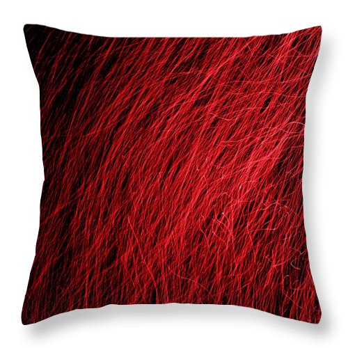 Red Throw Pillow featuring the photograph S T O R M by M Pace