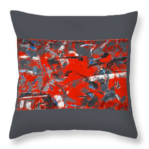 Abstraction Throw Pillow featuring the painting Symphony No. 8 Movement 16 Vladimir Vlahovic- Images Inspired By The Music Of Gustav Mahler by Vladimir Vlahovic