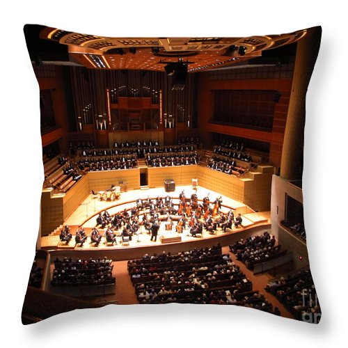 Dallas Throw Pillow featuring the photograph Symphony Orchestra by Luis Moya