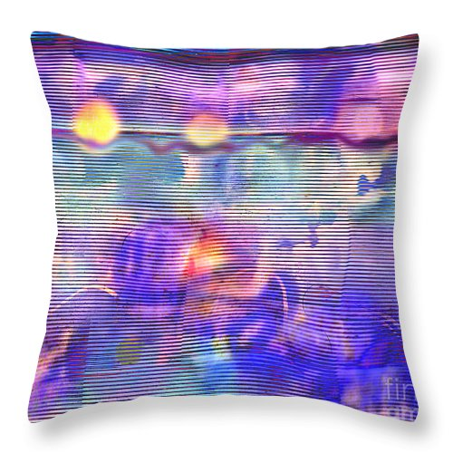 Synaesthesia Throw Pillow featuring the digital art Synesthesia 3 by Andy Mercer