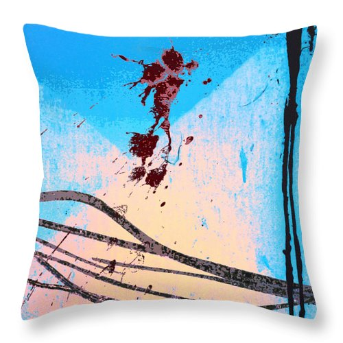 System Level Throw Pillow featuring the mixed media System-level Anomaly by Dominic Piperata
