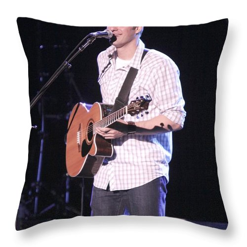T Jay Throw Pillow featuring the photograph Musician T Jay by Concert Photos