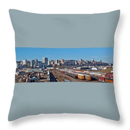 Tacoma Skyline Throw Pillow featuring the photograph Tacoma City Wide View by Tikvah's Hope