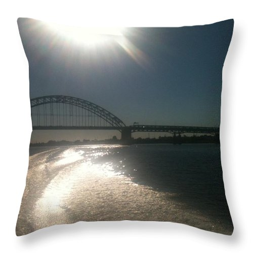 Hot Throw Pillow featuring the photograph Tacony/Palmyra Hot Summer D by Sheila Mashaw